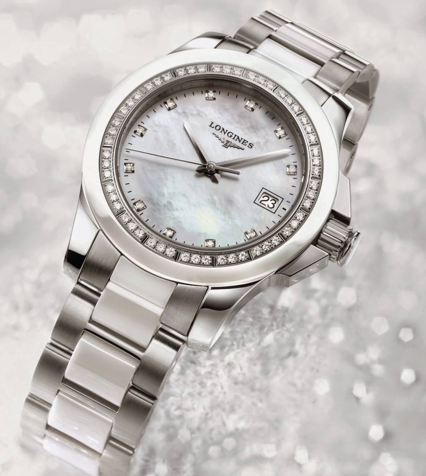 Longines Ladies Diamond Conquest replica watch