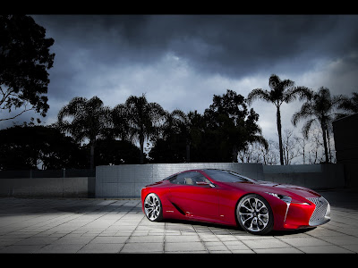 Lexus 2012 Concept Hybrid Car Selective Color HD Wallpaper
