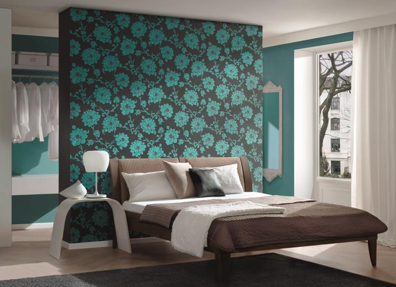 Dormitorios en marr n y turquesa dormitorios colores y - Banos turquesa y marron ...