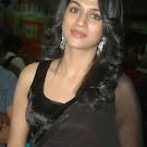 Shraddha Das in Black Transparent Saree Pics