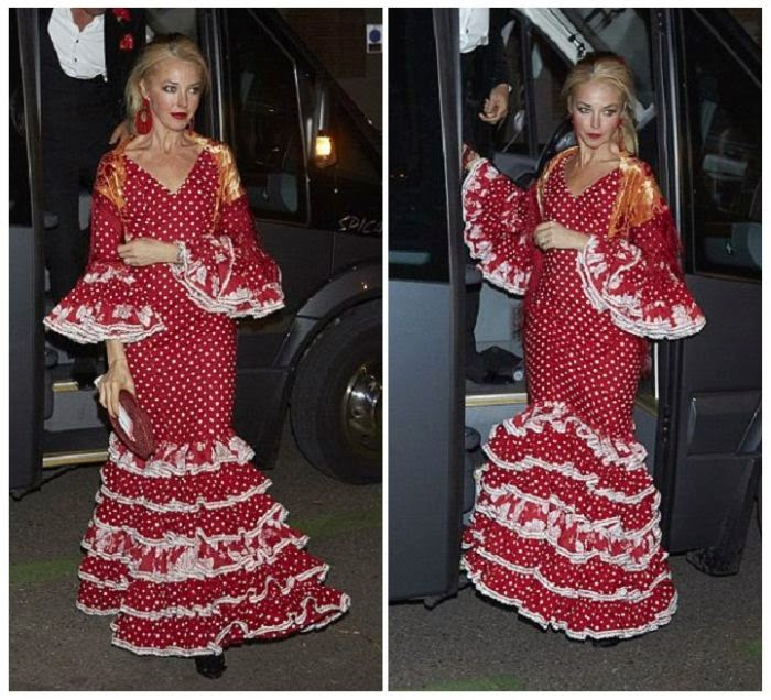 Tamara Beckwith flaunted her senorita style too as she attended a party of the Valentino Fashion House in a bright red flamenco gown.