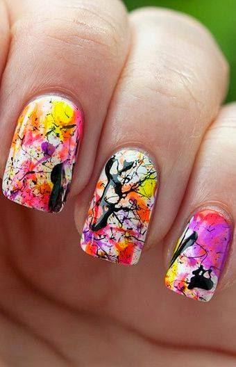 Nails| crackle nail Design