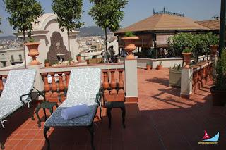 UN VIAJE AL PASADO... Jardín Diana en la azotea del Hotel Palace Barcelona