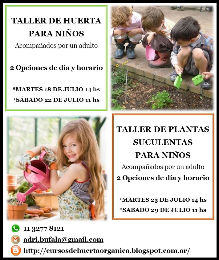 TALLER DE HUERTA ORGÁNICA PARA NIÑOS EN VACACIONES DE INVIERNO CLIC SOBRE LA FOTO PARA VER ÍNFO