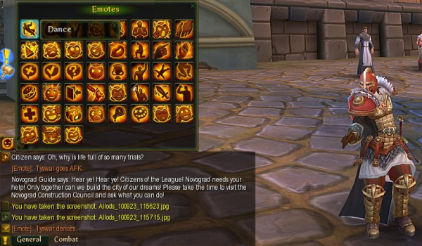 MMORPG Emoticon Feature