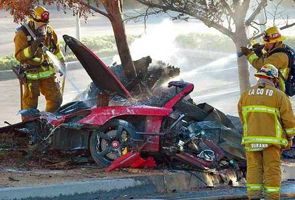 Foto Paul Walker Saat Kecelakaan Foto Mobil Paul Walker