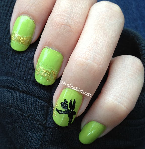 Nail Designs With Tinkerbell Pixie Hollow Tinkerbell Nail Art Set