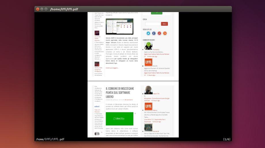 Zathura in Ubuntu