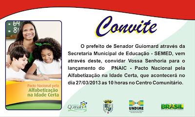 Prefeito James Gomes e Secretária de Educação Sebastiana Maia lançam Pacto Nacional Pela Alfabetização na Idade Certa nesta quarta-feira no centro comunitário