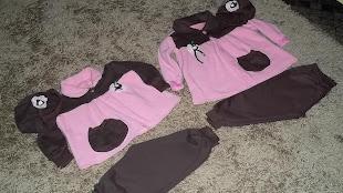 dois conjunto rosa e marom