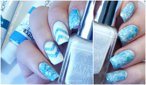 Dry Marble Nails with Sea Salt