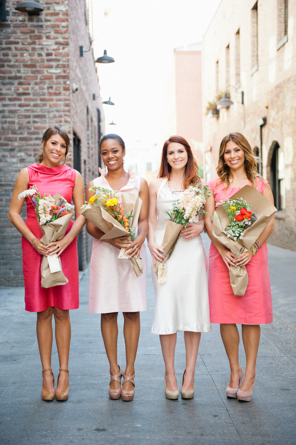 bridal shower ladies with flowers