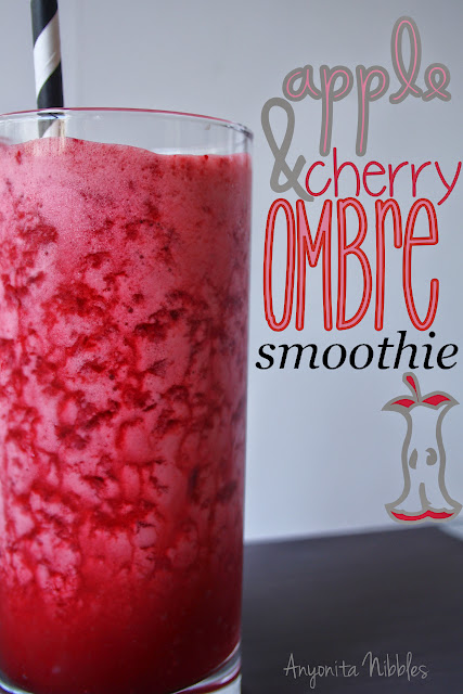 Apple and Cherry Ombre Smoothie