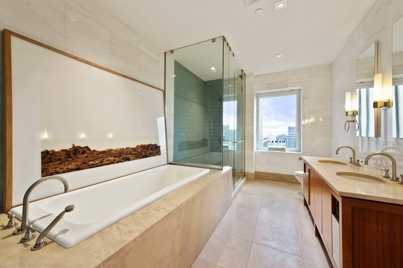 Bathroom in Wolf of Wall Street Manhattan Apartment