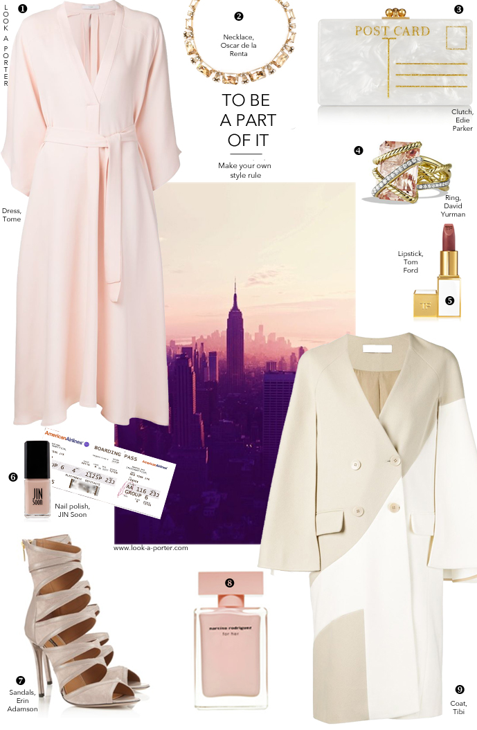 Outfit idea inspired by New York Fashion week / How to style pink / via look-a-porter.com