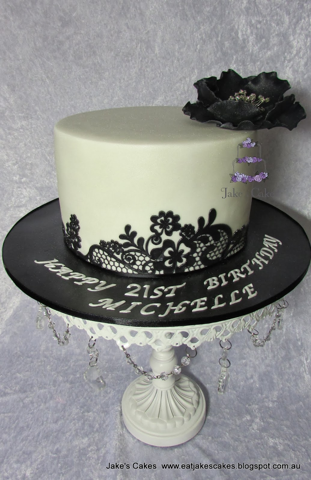 Jake s Cakes Black Lace Cake