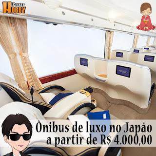 Pocket Hobby - www.pockethobby.com - Ônibus de luxo no Japão tem viagens a partir de R$ 4.000