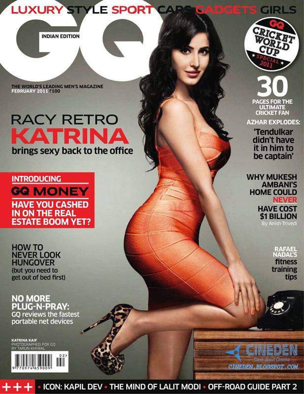 Katrina Kaif on GQ India Magazine February 2011