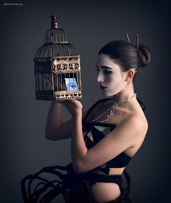 mascota electronica vestido efimero ojuilla
