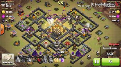 Attack strategi coc Level TH9