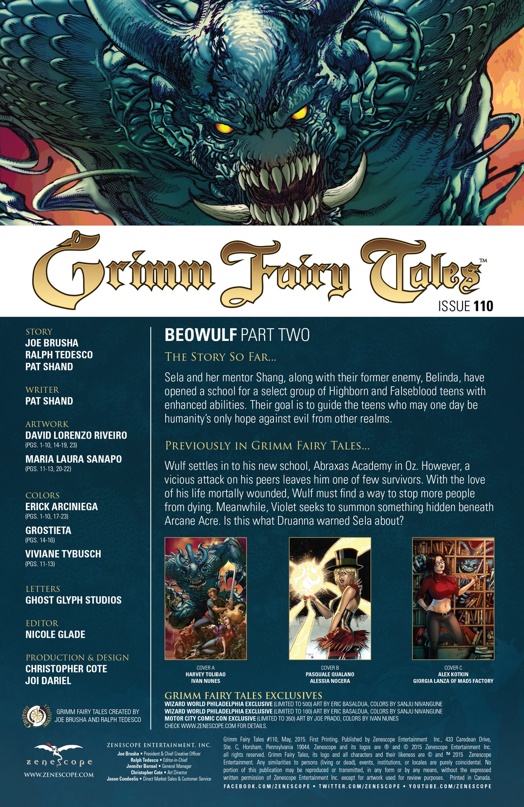 Grimm Fairy Tales (2005) Issue #110 #113 - English 2