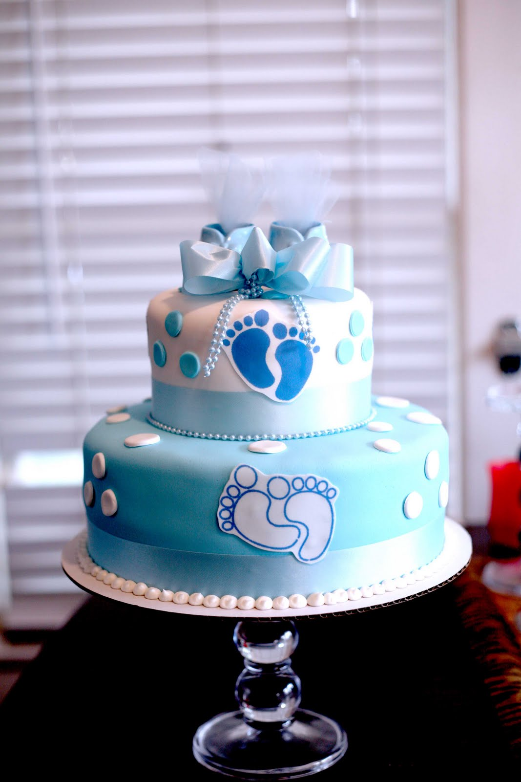 Boy Baby Shower Cake 2 Tiered/ Stacked/ Layered/