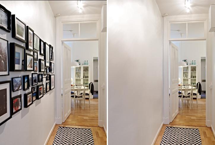 Como decorar con cuadros de fotos colgadadeunapercha - Cuadros para decorar pasillos ...