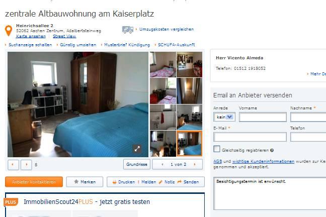 wieder vorkassebetrug mit telefon 01512 1918052 alias herr vicento. Black Bedroom Furniture Sets. Home Design Ideas