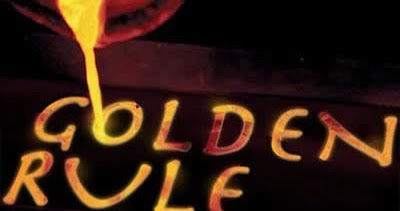 """8.5/"""" X 12/""""  REMEMBER THE GOLDEN RULE /""""HE WHO HAS THE GOLD MAKES THE RULES/"""" SIGN"""