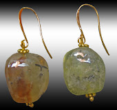 Genuine Prehnite Earrings Big Natural Gems XL
