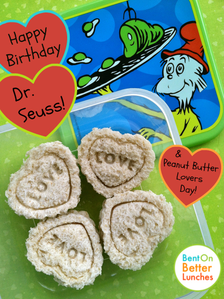 Love for Dr. Seuss & Peanut Butter!