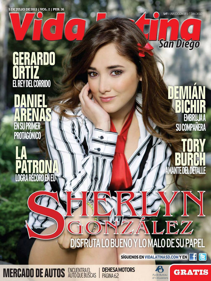 Sherlyn for Vida Latina magazine July 2013 Cover