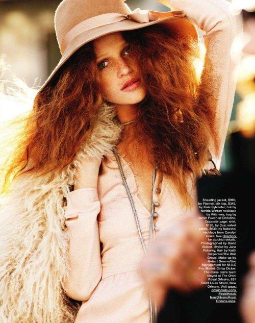 Redhead fashion models