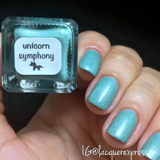 swatch and review of Unicorn Symphony nail polish by Chaos and Crocodiles