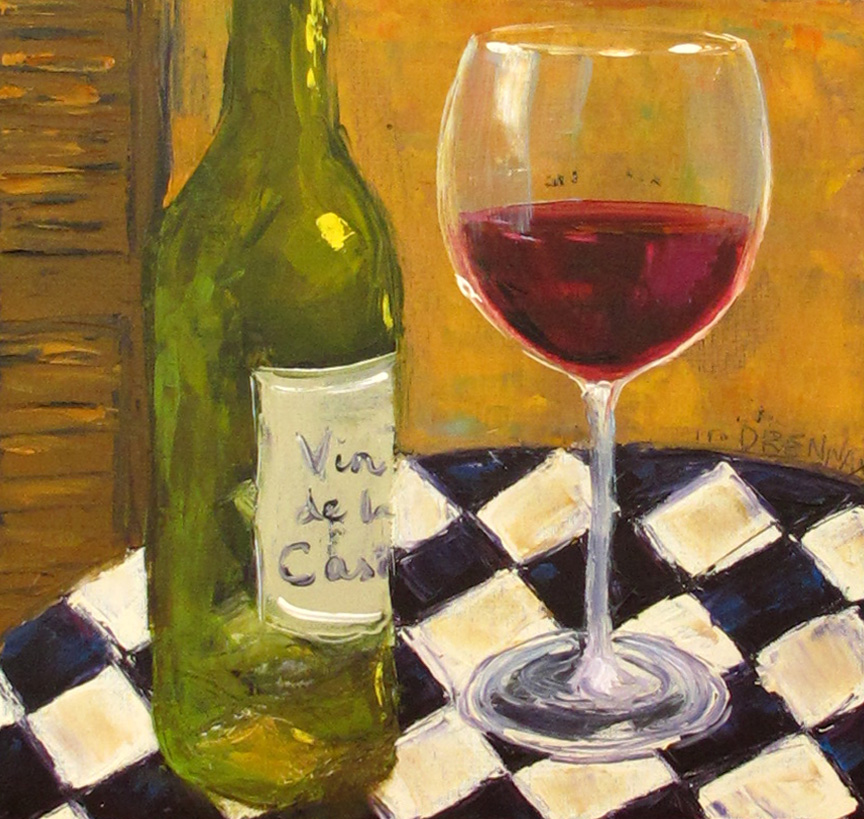Drennart the oil painting adventures of lorrie drennan for Paint vino