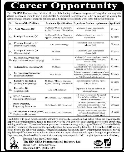 IBN SINA Pharmaceutical Industry Ltd (IPI) | Job Opportunity
