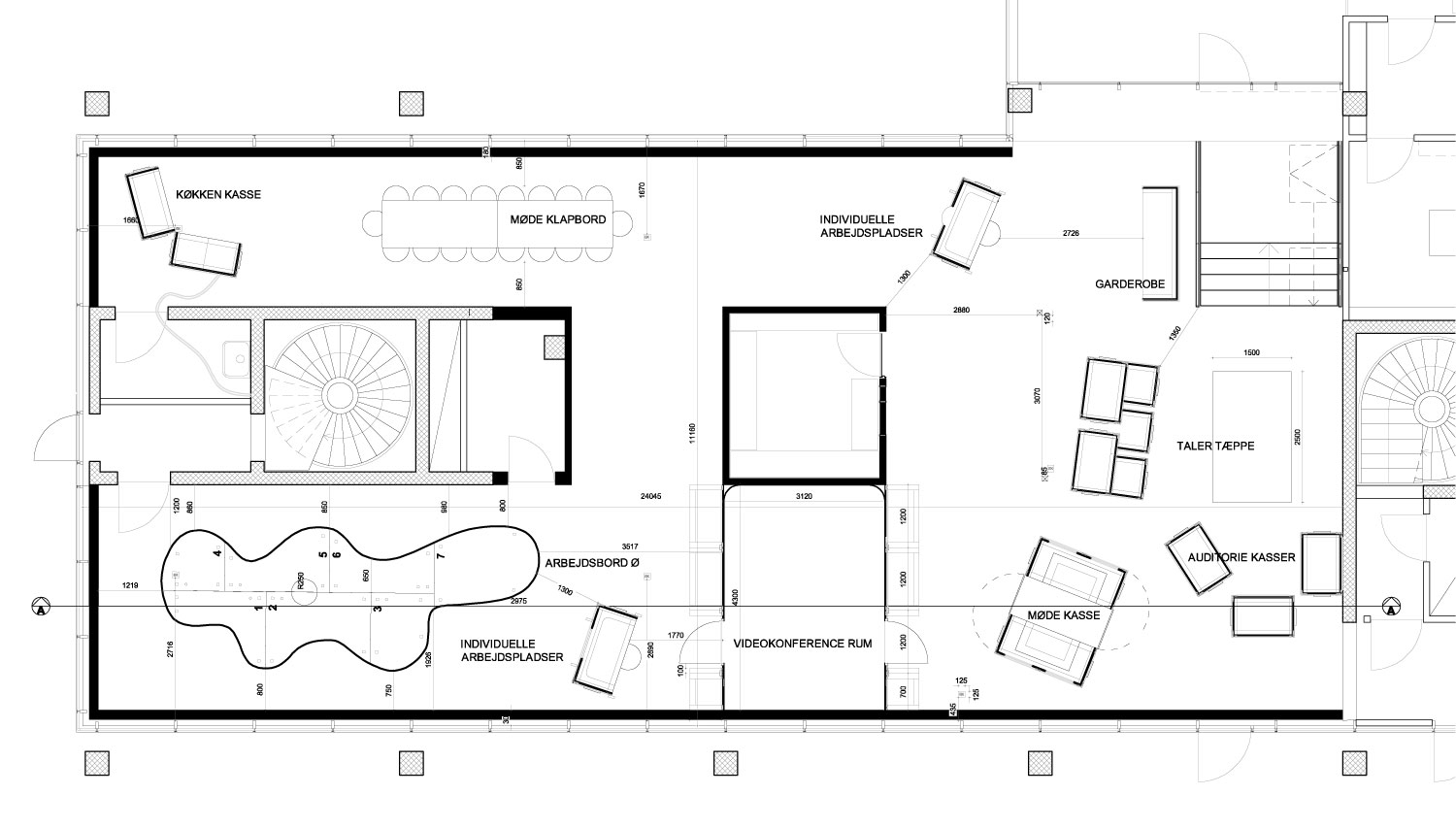 plug and play office interior by bosch fjord housevariety floor plan drawing courtesy of bosch fjord