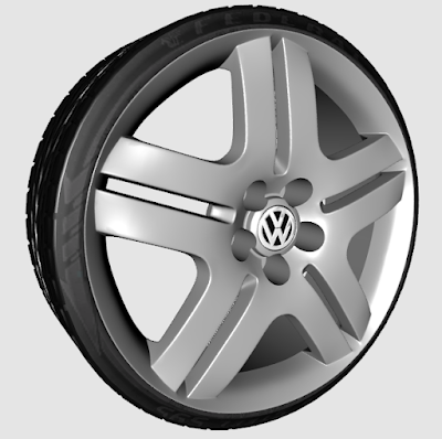 ZM - Roda VW Long Beach 3D wheel