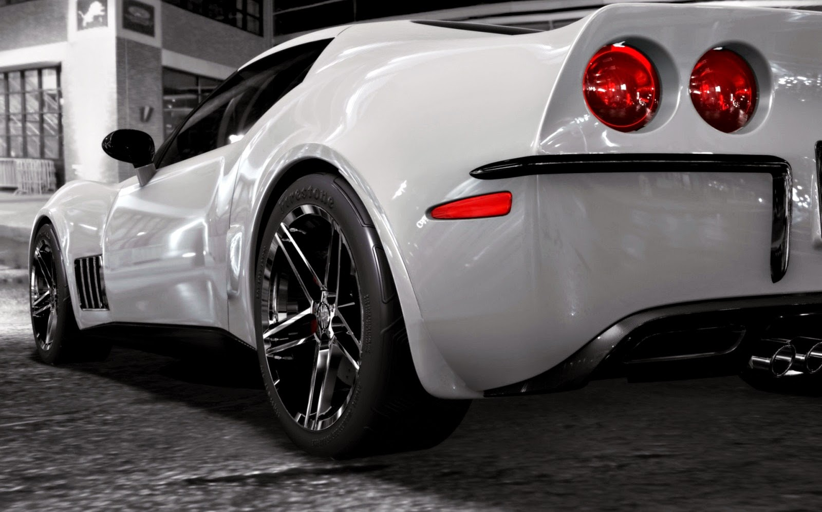 corvette stingray chevy sport wallpapers rear wallpapers