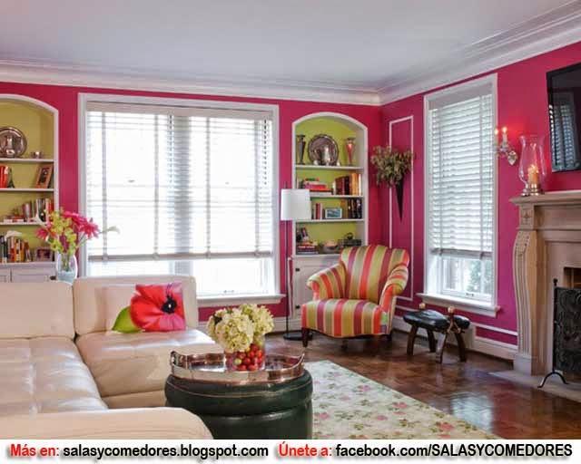Como decorar tu sala en tonos rosa salas y comedores for Como decorar mi sala
