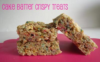 cake batter krispie treats