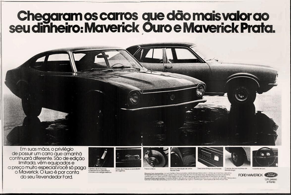 Ford.  reclame de carros anos 70. brazilian advertising cars in the 70. os anos 70. história da década de 70; Brazil in the 70s; propaganda carros anos 70; Oswaldo Hernandez;