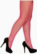 Neon Pink Fishnet Tights for 80s Dress-Up