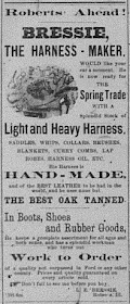 Bressie's Harness Shop 1888 Ad