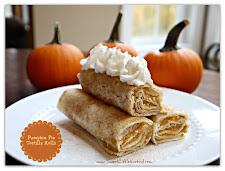 An ORIGINAL ~ Pumpkin Pie Tortilla Rolls ~ SO GOOD!
