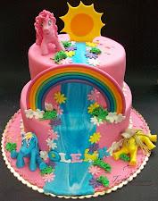 Tort z kucykami Pony