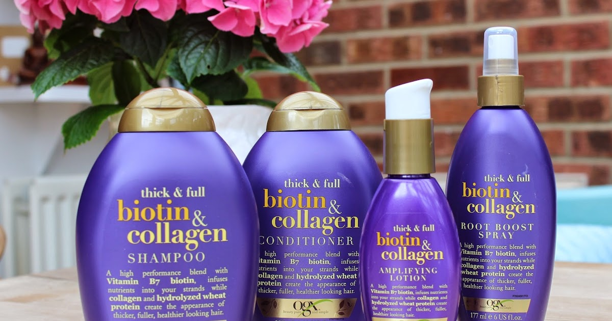 BEAUTY Amp LE CHIC OGX Thick Amp Full Biotin Amp Collagen The