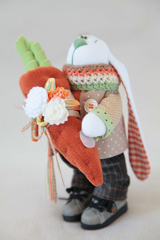 Своими руками заяц с морковкой