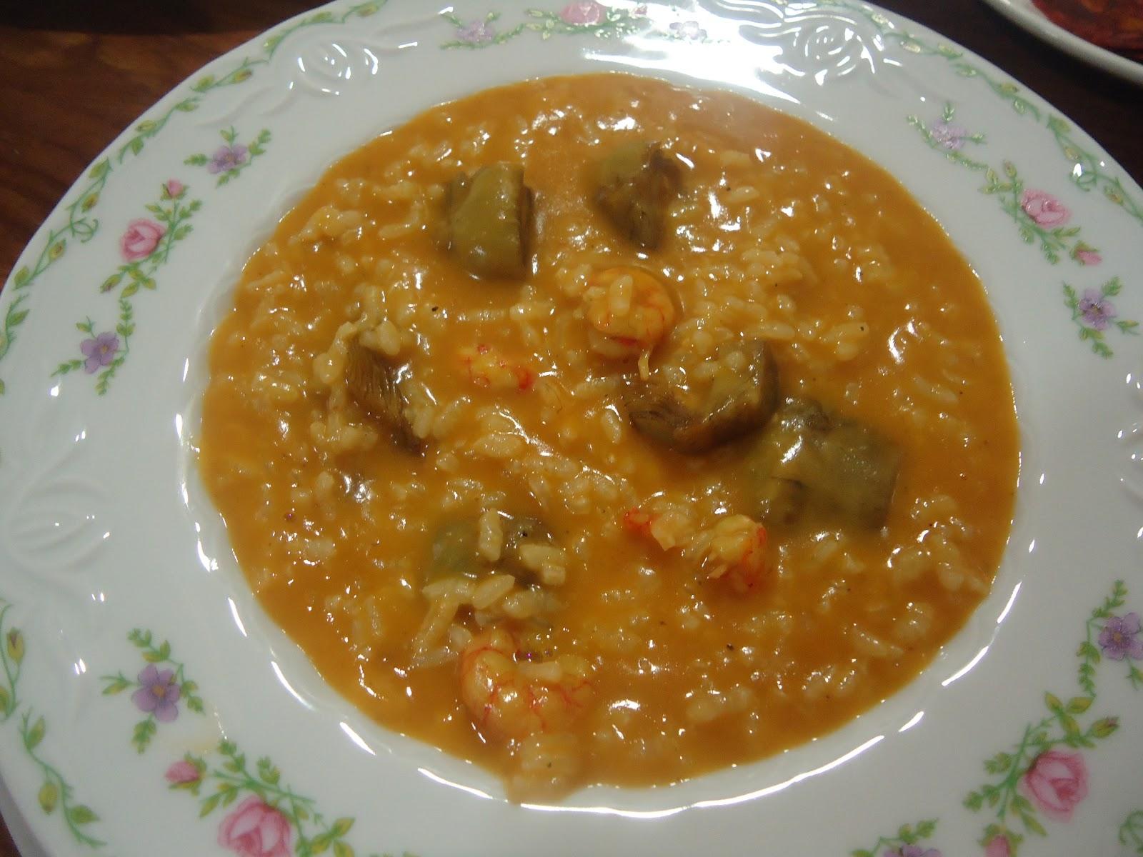 Las receticas de anica arroz caldoso con alcachofas y gambas - Arroz caldoso con costillas y alcachofas ...