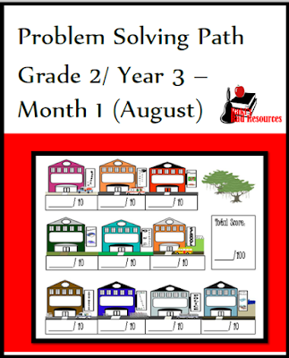 Second grade math journal for problem solving. Free download from Raki's Rad Resources.